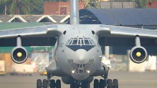 [📻 ATC ] Indian Army leaving Dhaka ★ Ilyushin 76 MD ★ Monstrous Sound!!!