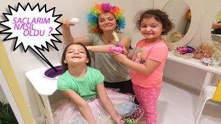 Masal Güzellik Salonuna Gidiyor -Kids Pretend Play Hair Style Salon / Makeup Toys