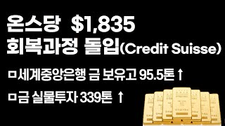 [금값,금시세] 온스당 $1,835 회복과정 돌입(Cr…