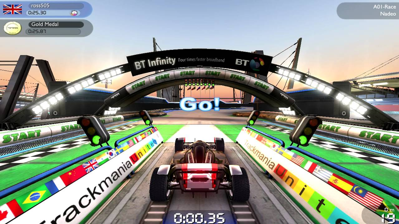 trackmania forever voiture a