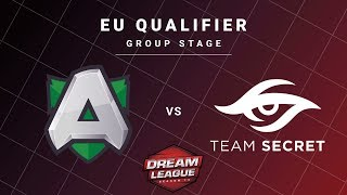 Alliance vs Team Secret Game 1 - DreamLeague S13 EU Qualifiers: Group Stage