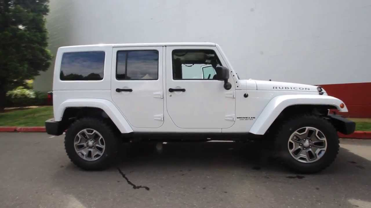 Beautiful EL115488 | 2014 Jeep Wrangler Unlimited Rubicon | KirklandDCJ | White    YouTube