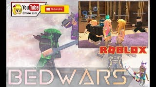 Bed Wars NOW WITH CANNONS! First try on Roblox bed wars not Minecraft bed wars!