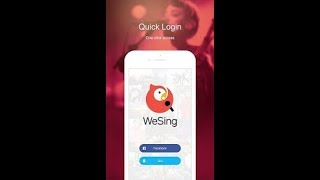 how to use wesing app
