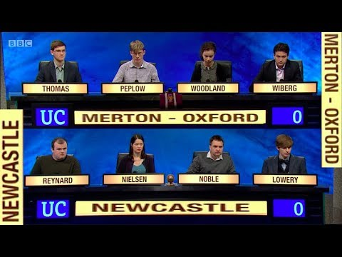University Challenge. Merton - Oxford v Newcastle. S47 E36. 2017/18. 16 Apr 2018. Jeremy Paxman