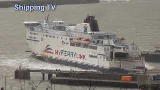 Rough day at Dover: Force 7, 31st December 2013, part 1