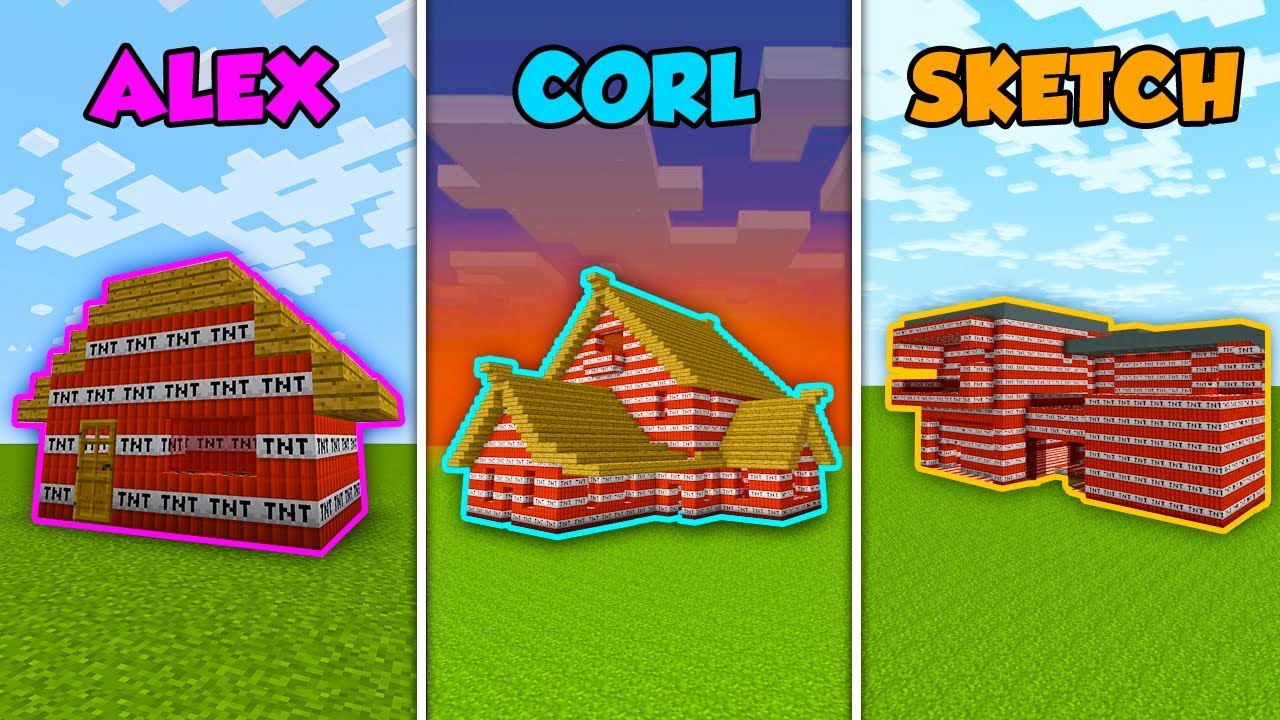 alex-vs-corl-vs-sketch-tnt-house-in-minecraft-the-pals