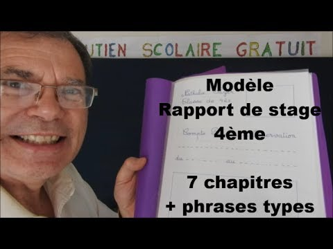 Rapport De Stage 4eme Plan Type Modele D Observation Phases Types Youtube