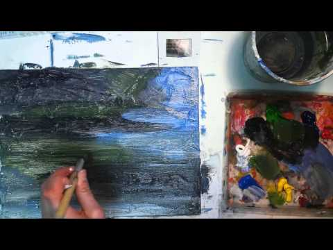 Abstract Acrylic Painting Demonstration
