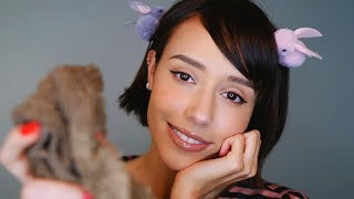 ASMR- Taking Care of your Lovely Face (whispered, scrubbing ...