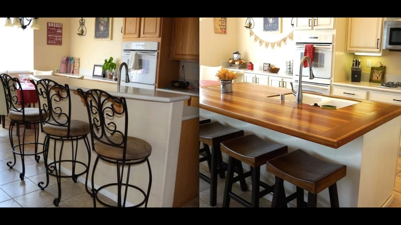 Diy Kitchen Island Remodel With Butcher Block