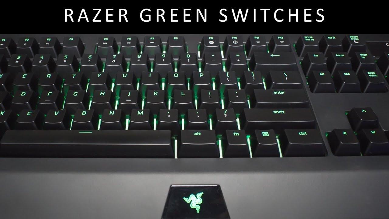 Razer Green Switches Sound Test Slow Typing On Razer Blackwidow
