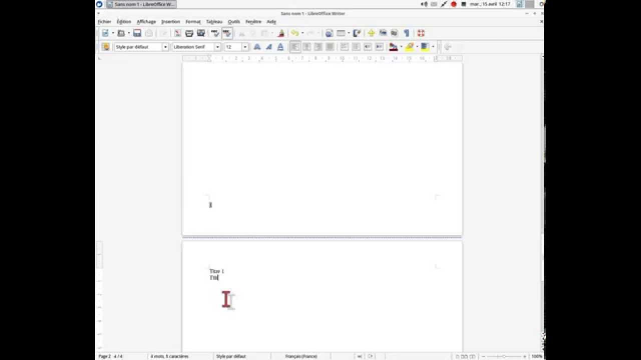 how to add more pages in libre office writer