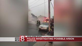 Police investigating possible arson in Hartford