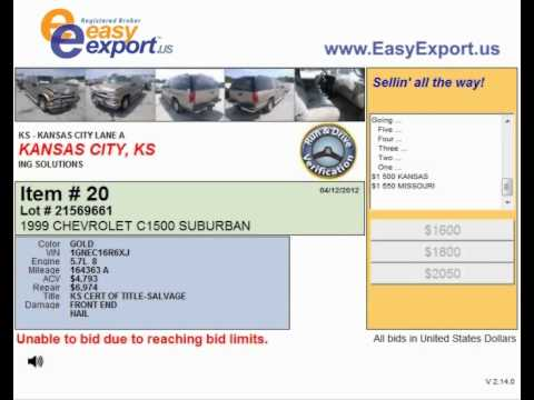 Detailed Info about the Auto Auction in Kansas City