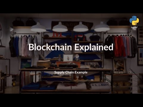 Blockchain Basics Simplified: Supply Chain Example with Python Programming