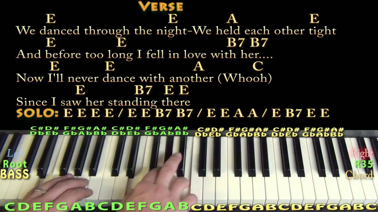 I saw her standing there the beatles piano cover lesson with i saw her standing there the beatles piano cover lesson with chordslyrics hexwebz Image collections
