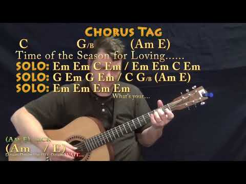 Time of the Season (The Zombies) Fingerstyle Guitar Cover Lesson in Em with Chords/Lyrics