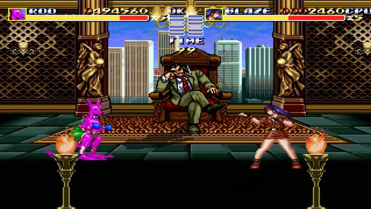 Streets of Rage Remake V5 - Unlockable Character Roo