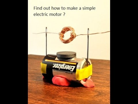 Making simple electric motor science project youtube for Science projects using motors