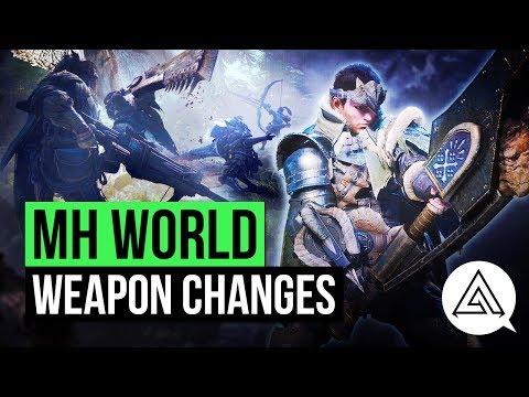Monster Hunter World | New Weapon Changes & Gameplay Analysis