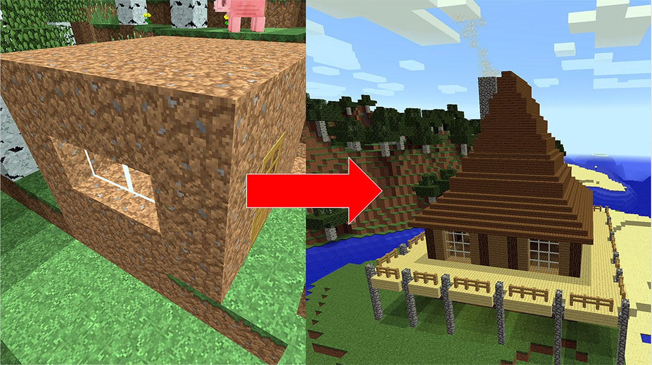 Minecraft  How To Improve The Exterior Of Your House Using Easy Steps