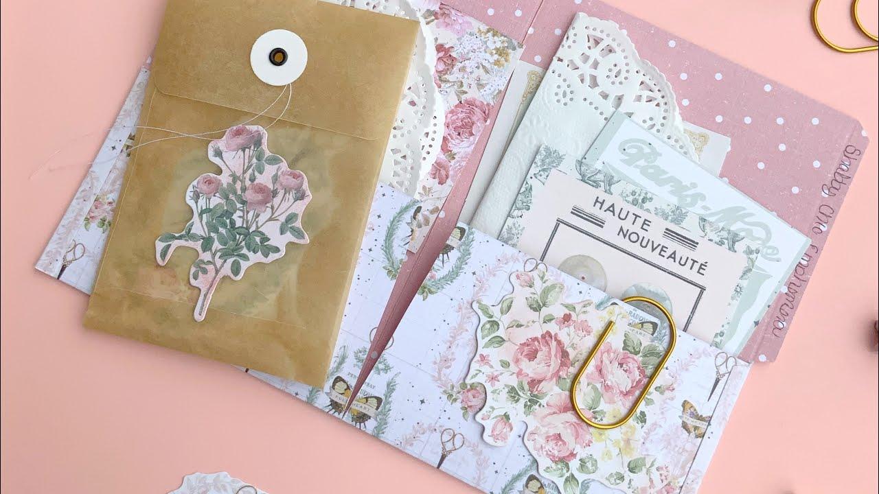 File Folder Pockets Tutorial |Junk Journal Folder | Ephemera Storage | DIY Folder