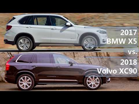 2017 BMW X5 vs 2018 Volvo XC90 (technical comparison)