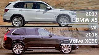 2017 bmw x5 vs 2018 volvo xc90 (technical comparison)