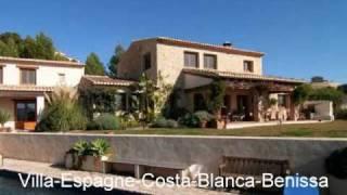 Location villa 8 - 10 personnes espagne Maison de luxe a louer a  Benissa Espagne Costa Blanca
