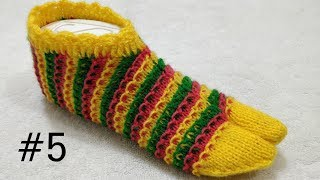 How to Make Beautiful Multi Color Socks #5
