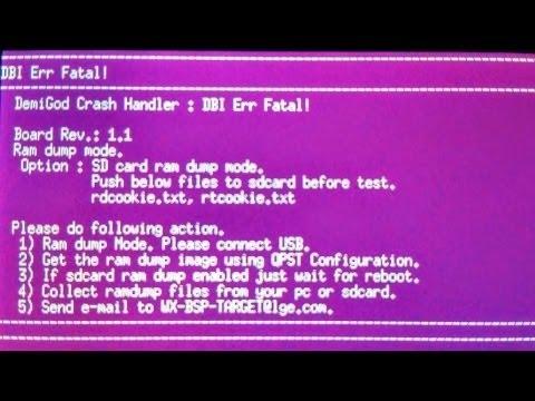 DemiGod Crash Handler: DBI Err Fatal Repair LG L80 D380