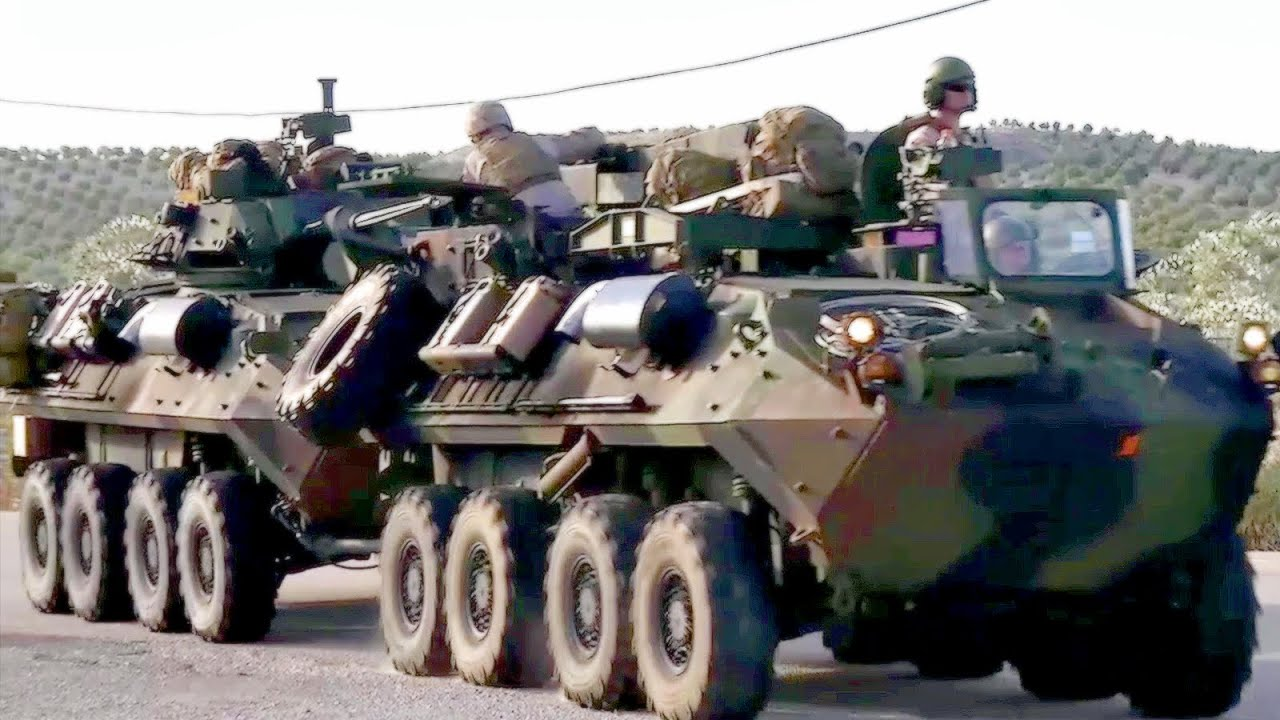 U.S. Marines Light Armored Vehicles Convoy Through Spain   YouTube Pictures Gallery