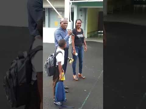 Martinique : retour de Christophe Maleau au collège
