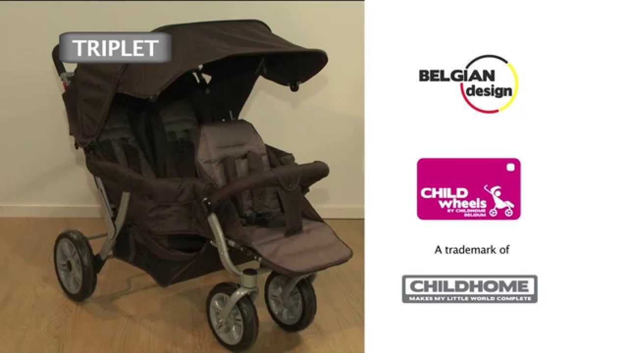 Childwheels - Triplet stroller - YouTube