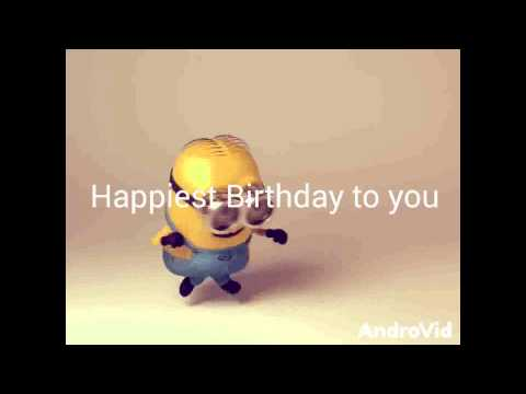 Happy Birthday From Dancing Minions Youtube