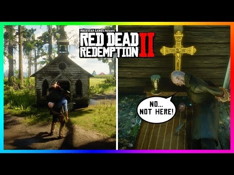 If You Get The Vampire Inside The Tiny Church In Red Dead Redemption 2 Something SPOOKY Will Happen! thumbnail