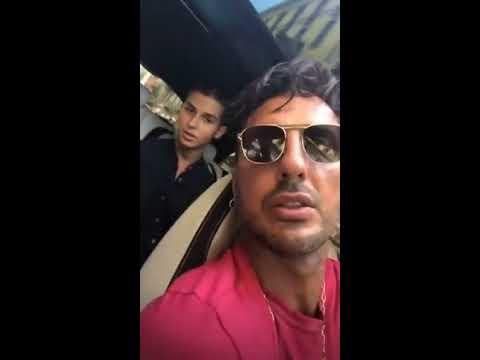 Fabrizio Corona porta al lavoro Carlos
