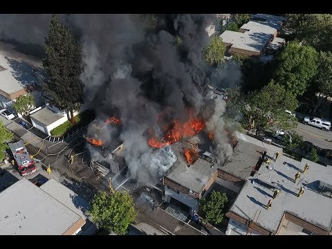 Chatsworth Condo Fire Drone Footage July 4 2017 (Full)