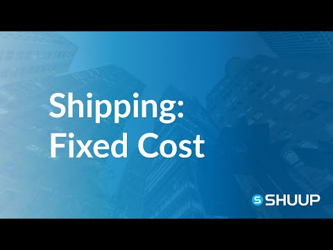 Shipping Methods Behavior: Fixed Shipping Cost