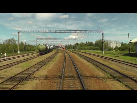 Train Driver's View: Nevskaya Dubrovka - Saint Petersburg Part 1 ( Cab ride view )