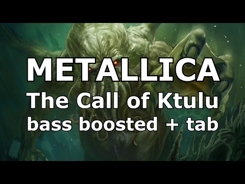 Metallica The Call of Ktulu enhanced bass track of Cliff Burton + bass tabs play along