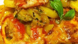 Kartoffel Zucchini Tomatenauflauf
