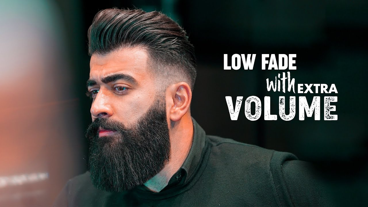 Low fade & Slicked back with Volume. Men´s hairstyle inspiration 18