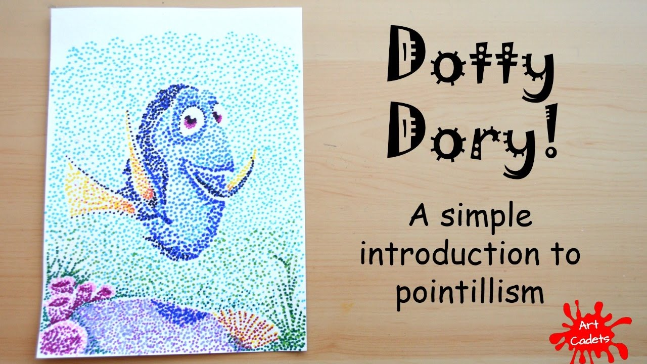 Drawing Dory A Simple Introduction To Pointillism Or Dot Art Youtube