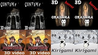 3D VR headset horror and other games ужасы и другие игры для виар очков