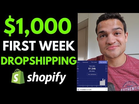 $1,000 His First Week Dropshipping (How He Did It) | Shopify Dropshipping 2020 thumbnail