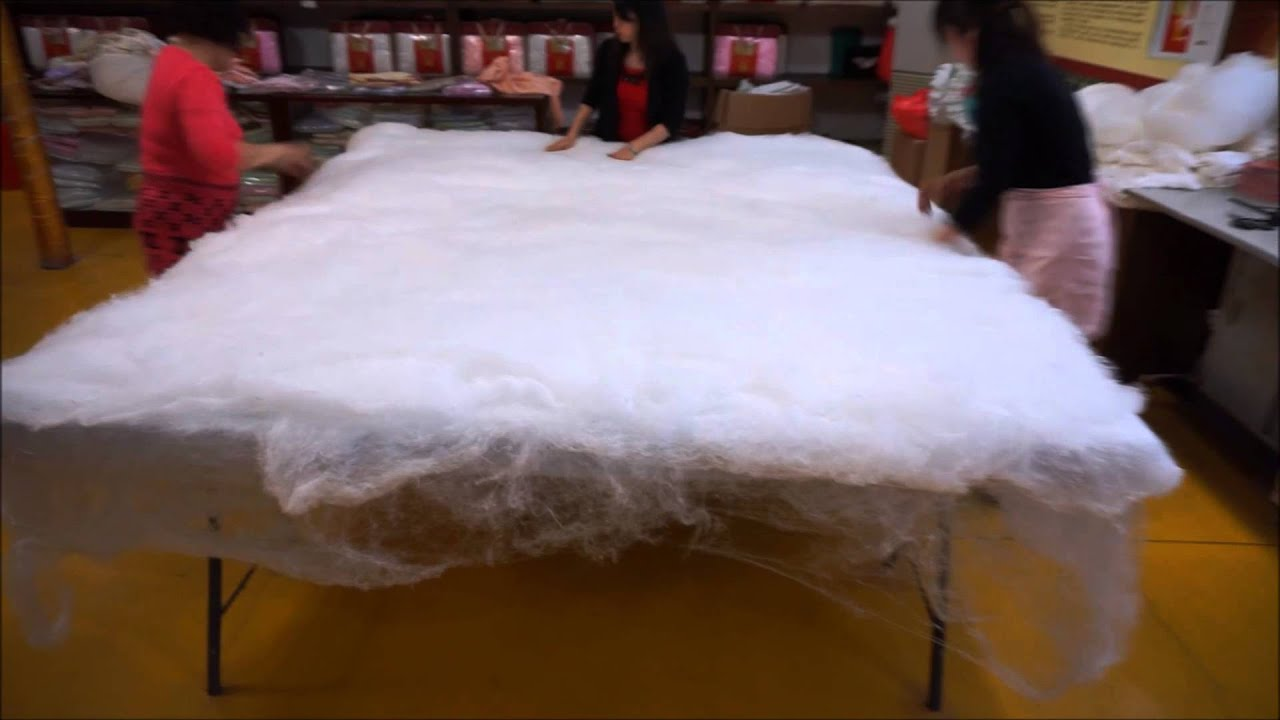 how pure silk blanket is made