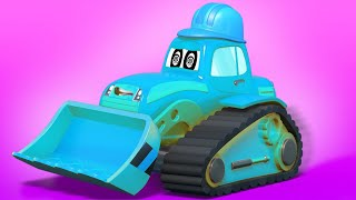 Truck cartoons for kids -  the CRAZY BULLDOZER! - Super Truck in Car City !