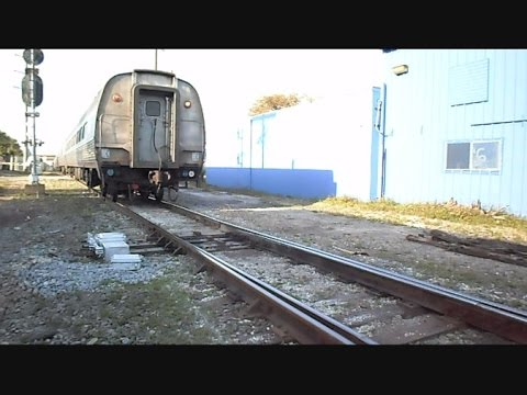 Amtrak Silver Star Track Switches For Train To Reverse In To Tampa Florida